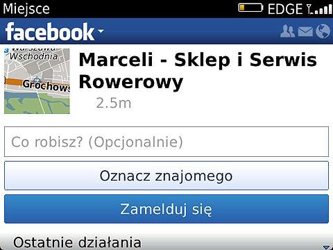Zamelduj się na Facebook