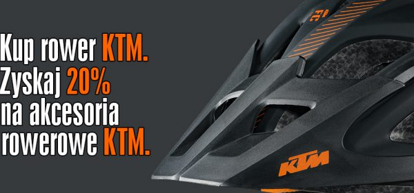 Promocja, kup rower KTM zyskaj zniżkę na akcesoria rowerowe -20%